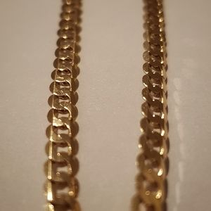 9ct yellow gold 55cm Bevelled curb chain